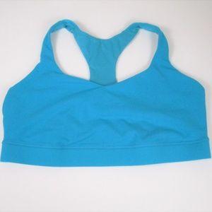 Lululemon sz 12 Solid Teal Blue Sports Bra Mesh